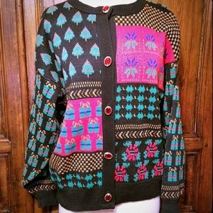Vintage Sweater Loft Ugly Christmas Sweater sz L